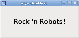 Writing a Vizkit C++ Widget